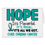Ovarian Cancer HOPE 1 Greeting Card