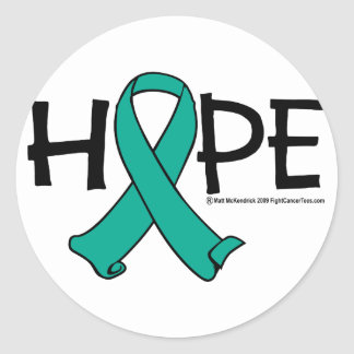Ovarian Cancer Hope 2 Classic Round Sticker