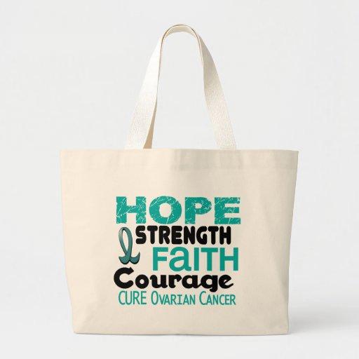 Ovarian Cancer HOPE 3 Canvas Bags