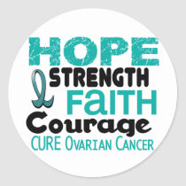 Ovarian Cancer HOPE 3 Classic Round Sticker