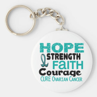 Ovarian Cancer HOPE 3 Keychain