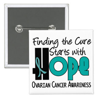 Ovarian Cancer HOPE 4 2 Inch Square Button