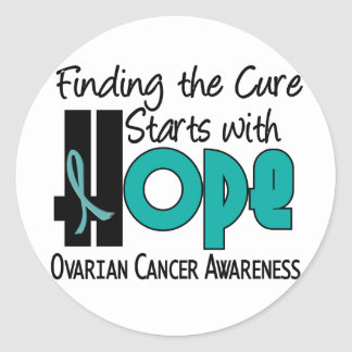 Ovarian Cancer HOPE 4 Classic Round Sticker