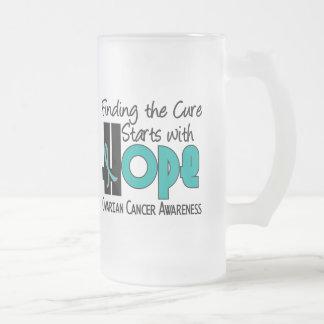 Ovarian Cancer HOPE 4 16 Oz Frosted Glass Beer Mug