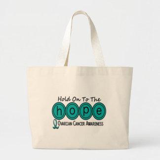 Ovarian Cancer HOPE 6 Large Tote Bag
