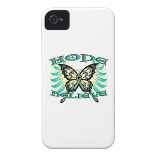 Ovarian Cancer Hope Believe Butterfly Blackberry Cases