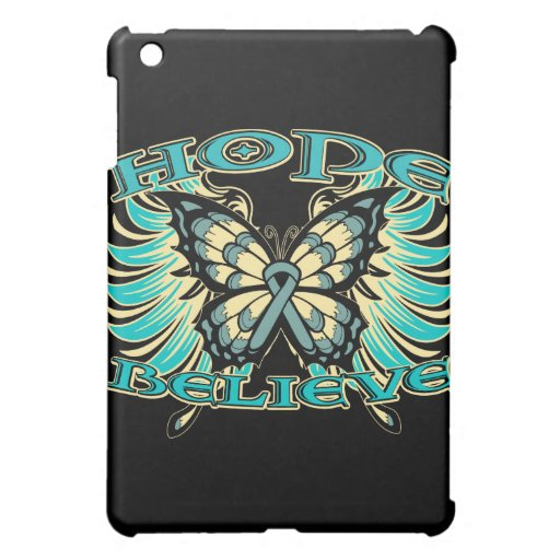 Ovarian Cancer Hope Believe Butterfly iPad Mini Case