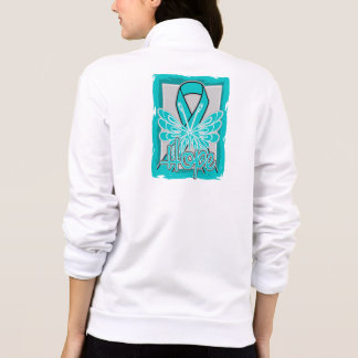 Ovarian Cancer Hope Butterfly Portrait Printed Jacket