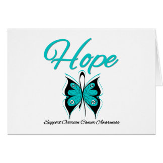 Ovarian Cancer Hope Butterfly Ribbon Cards