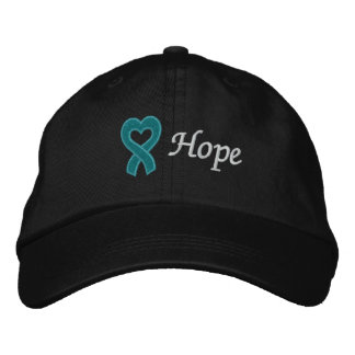 Ovarian Cancer Hope Embroidered Hat