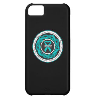 Ovarian Cancer Hope Intertwined Ribbon Cover For iPhone 5C