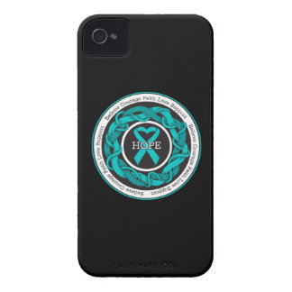 Ovarian Cancer Hope Intertwined Ribbon Case-Mate iPhone 4 Case