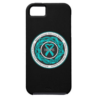 Ovarian Cancer Hope Intertwined Ribbon iPhone 5 Cases
