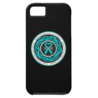Ovarian Cancer Hope Intertwined Ribbon iPhone 5 Covers