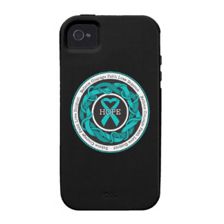 Ovarian Cancer Hope Intertwined Ribbon iPhone 4 Case