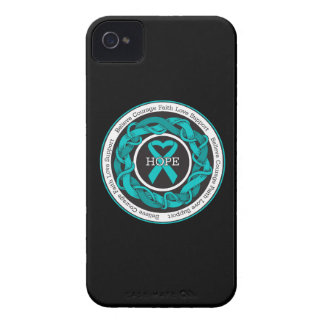 Ovarian Cancer Hope Intertwined Ribbon iPhone 4 Case-Mate Case