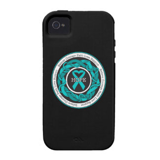 Ovarian Cancer Hope Intertwined Ribbon iPhone 4 Covers