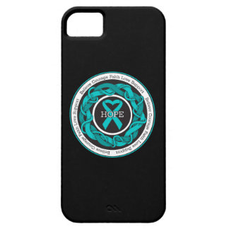 Ovarian Cancer Hope Intertwined Ribbon iPhone 5 Cover
