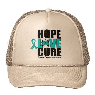 Ovarian Cancer Hope Love Cure Trucker Hat