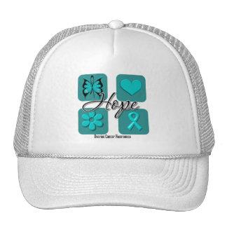 Ovarian Cancer Hope Love Inspire Awareness Mesh Hat