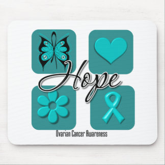 Ovarian Cancer Hope Love Inspire Awareness Mouse Pads