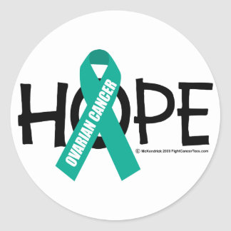 Ovarian Cancer Hope Classic Round Sticker