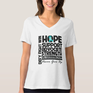 Ovarian Cancer Hope Support Advocate T-Shirt