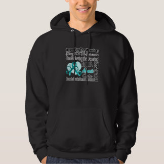 Ovarian Cancer Hope Tribute Collage Hoody