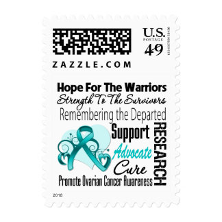 Ovarian Cancer Hope Tribute Collage Stamps