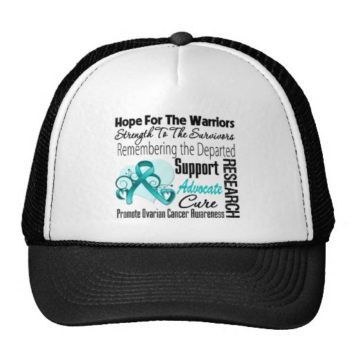 Ovarian Cancer Hope Tribute Collage Trucker Hat