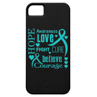 Ovarian Cancer Hope Words Collage iPhone 5 Covers