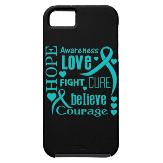 Ovarian Cancer Hope Words Collage iPhone 5 Cases