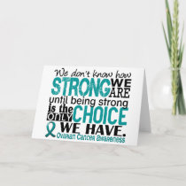 Ovarian Cancer How Strong We Are Card