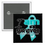 Ovarian Cancer - I am a Survivor Pins