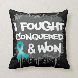 Ovarian Cancer I Fought Conquered Won Pillow