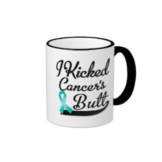 Ovarian Cancer I Kicked Butt Ringer Mug