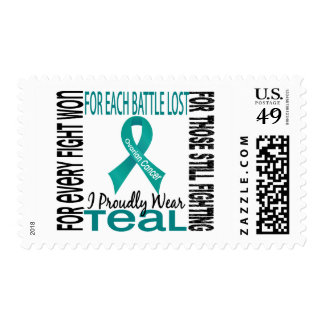 Ovarian Cancer I Proudly Wear Teal 2 Postage