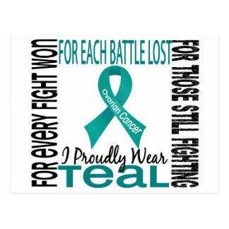 Ovarian Cancer I Proudly Wear Teal 2 Postcard