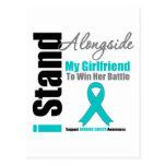 Ovarian Cancer I Stand Alongside My Girlfriend Postcard
