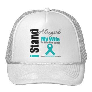 Ovarian Cancer I Stand Alongside My Wife Trucker Hat