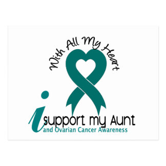 Ovarian Cancer I Support My Aunt Postcard