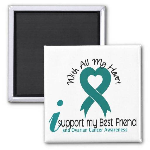 Ovarian Cancer I Support My Best Friend Refrigerator Magnet