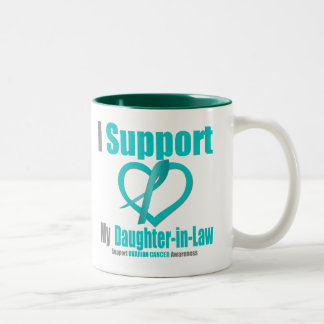 Ovarian Cancer I Support My Daughter-in-Law Two-Tone Coffee Mug