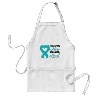 Ovarian Cancer I Support My Hero With All My Heart Adult Apron
