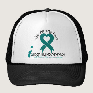 Ovarian Cancer I Support My Mother-In-Law Trucker Hat