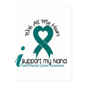 Ovarian Cancer I Support My Nana Postcard