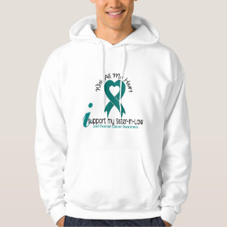 Ovarian Cancer I Support My Sister-In-Law Hoodie