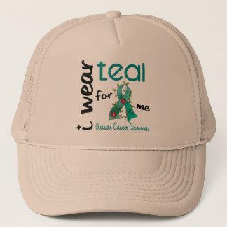 Ovarian Cancer I WEAR TEAL FOR ME 43 Trucker Hat