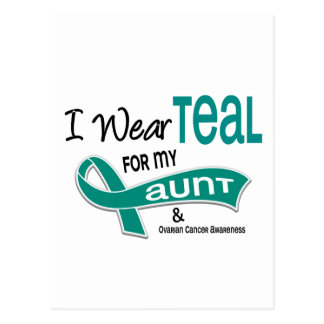 Ovarian Cancer I WEAR TEAL FOR MY AUNT 42 Postcard