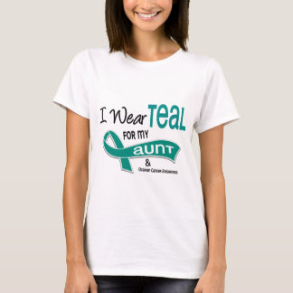 Ovarian Cancer I WEAR TEAL FOR MY AUNT 42 T-Shirt